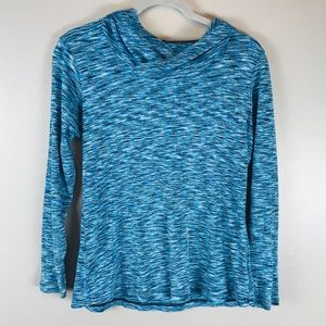 Columbia hooded long sleeve t-shirt XL blue